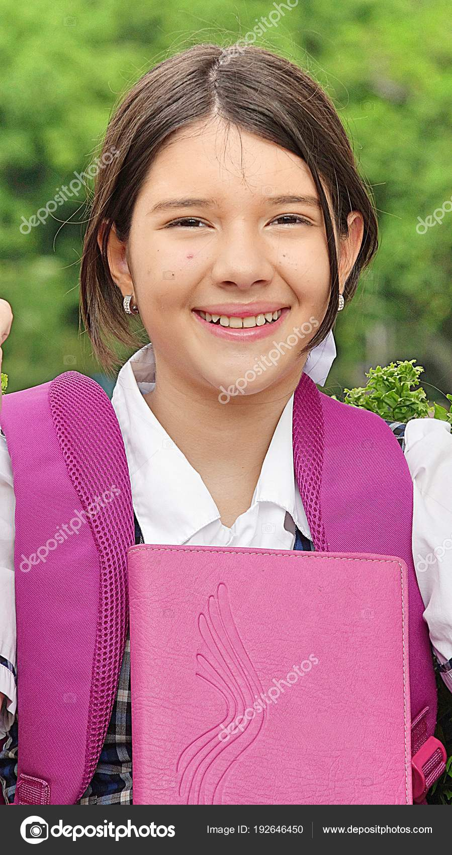 Smiling Young Colombian Girl Student — Stock Photo