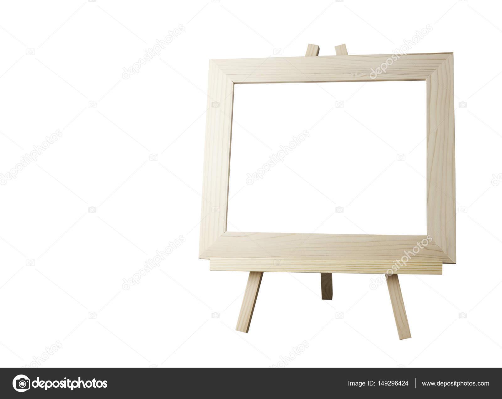 Cadre D Image Vide Avec Chevalet Isol Sur Fond Blanc Avec Un Trac