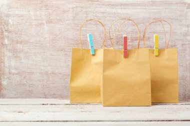 hopping concept with paper bags