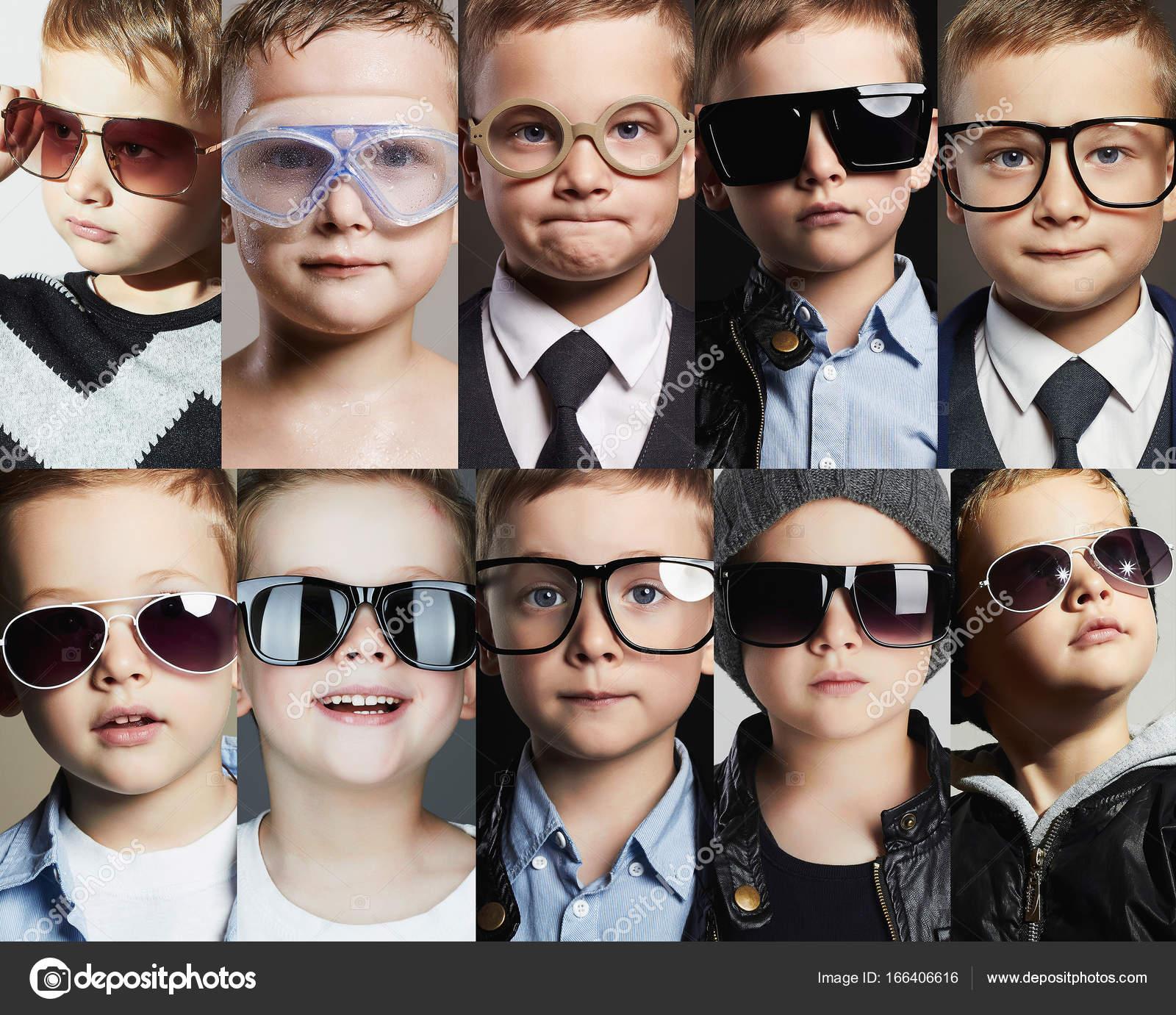 En Foto Niños Sol Stock Collage — De Gafas Y tdCxQrBhs
