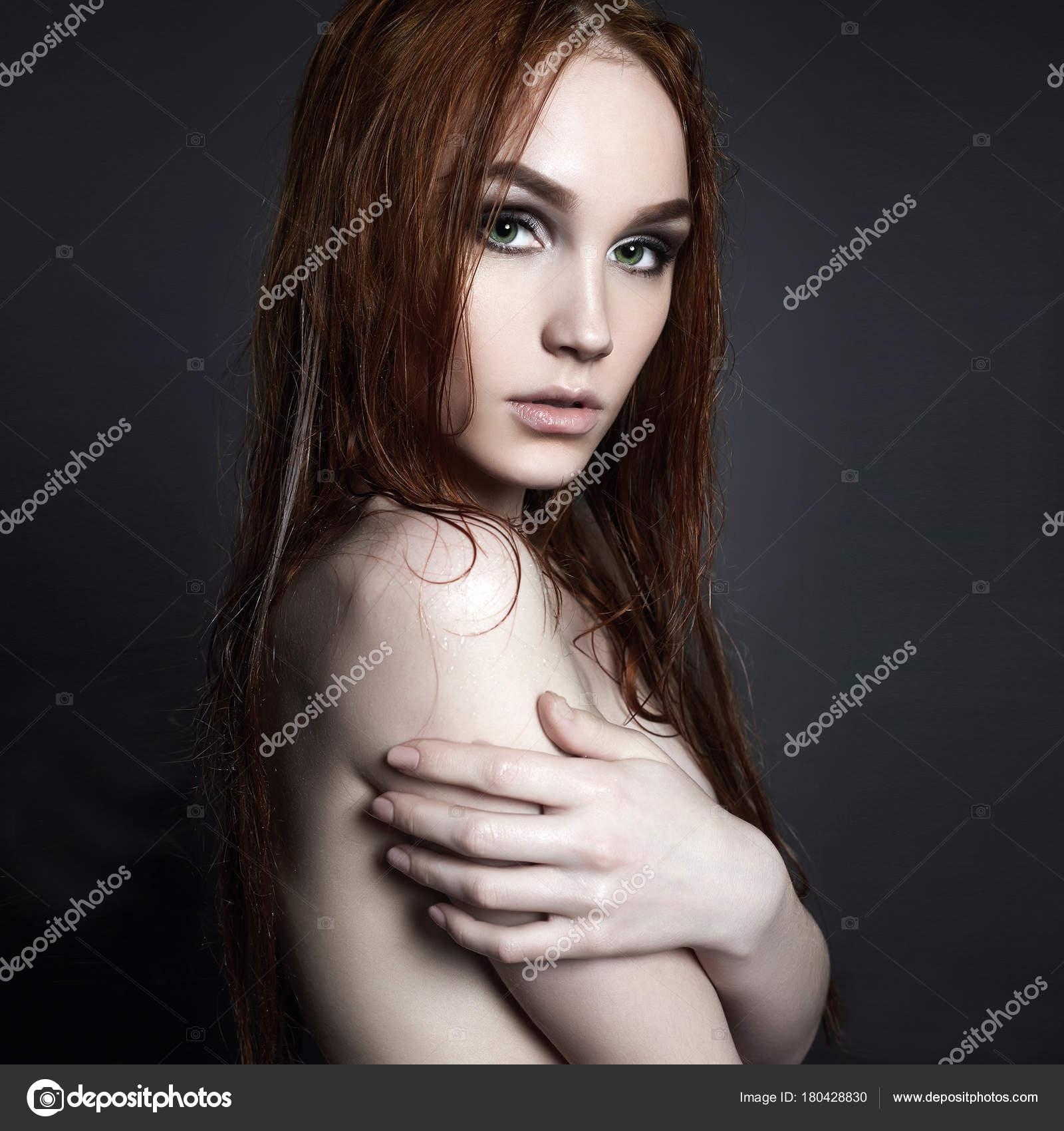 beauty naked wet girl — stock photo © eugenepartyzan #180428830