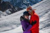 Turisty, které jsou homologní na kameru v údolí Khumbu na cestě k Evere