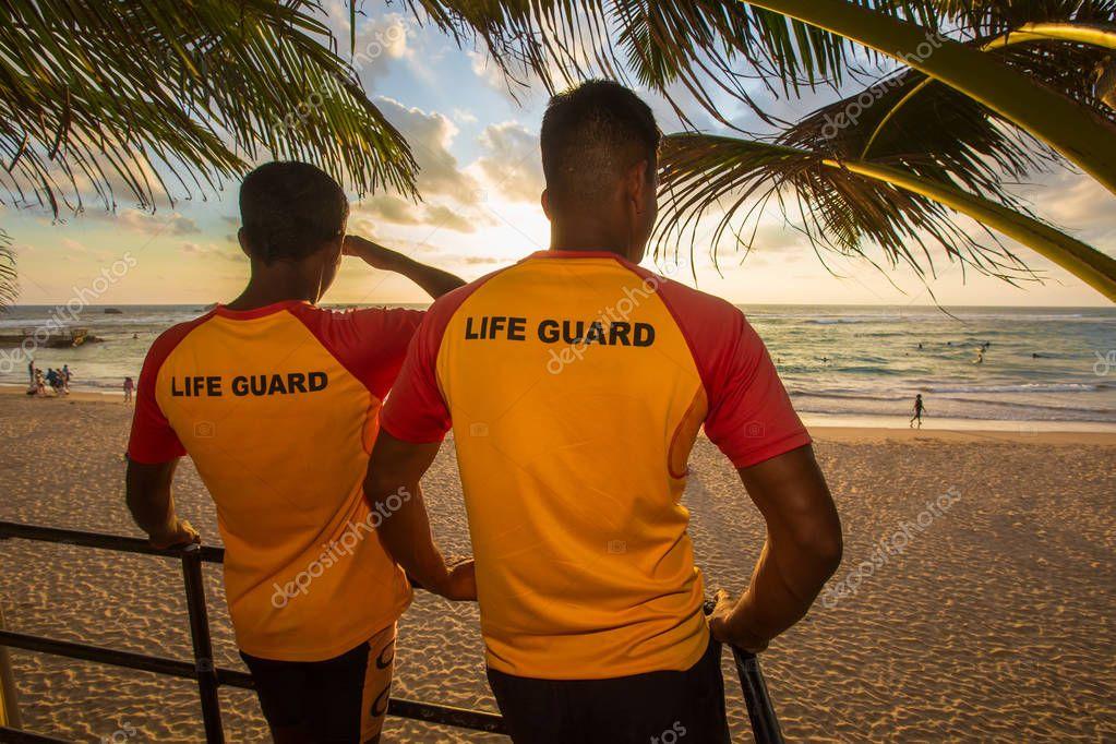lifeguard on the beach Sri Lanka