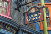 Orlando, Florida. March 02, 2020. Globus Muni Travel Agency in The Wizarding World of Harry Potter Diagon Alley at Universal Studios (30).