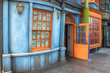 Orlando, Florida. March 02, 2020. Travel Agents in The Wizarding World of Harry Potter Diagon Alley at Universal Studios (31)