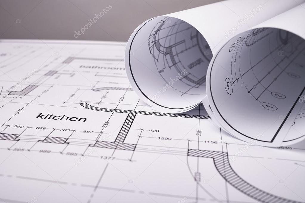 Set of construction drawings — Stock Photo © Veremeev #127138654