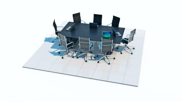 Office panorama. 3D vykreslování