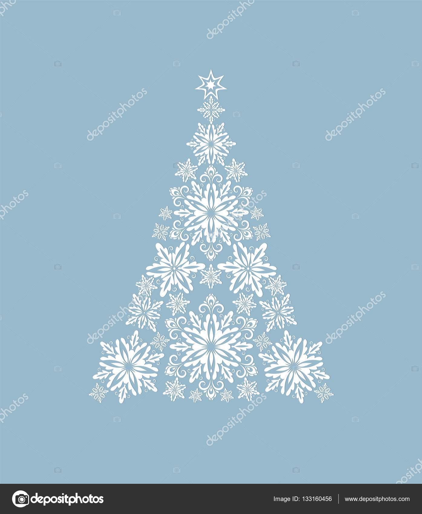 Grußkarte mit Schneide aus Papier Schneeflocken dekorative ...