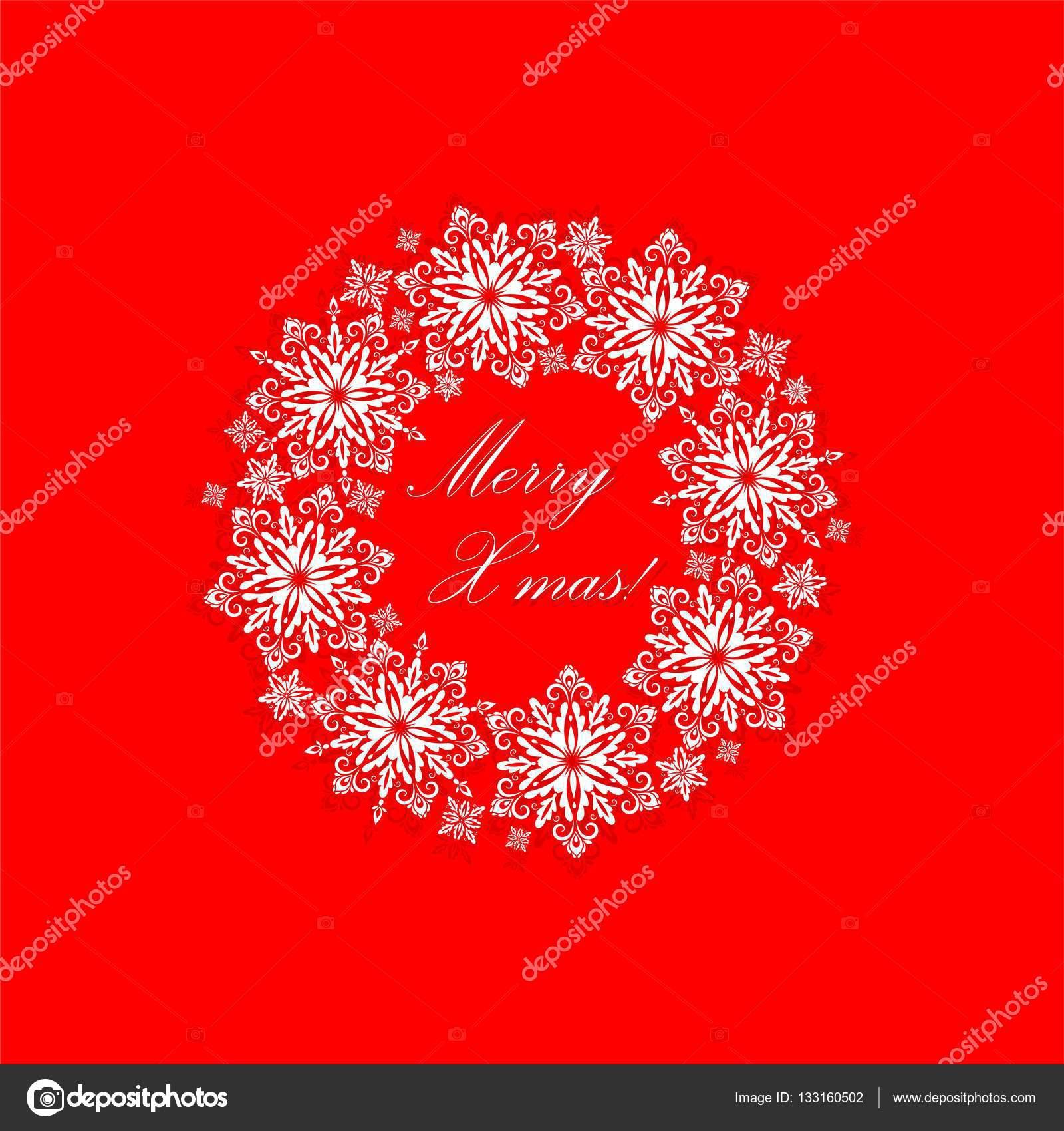 Tarjeta de felicitación con cortar guirnalda de Navidad de papel ...