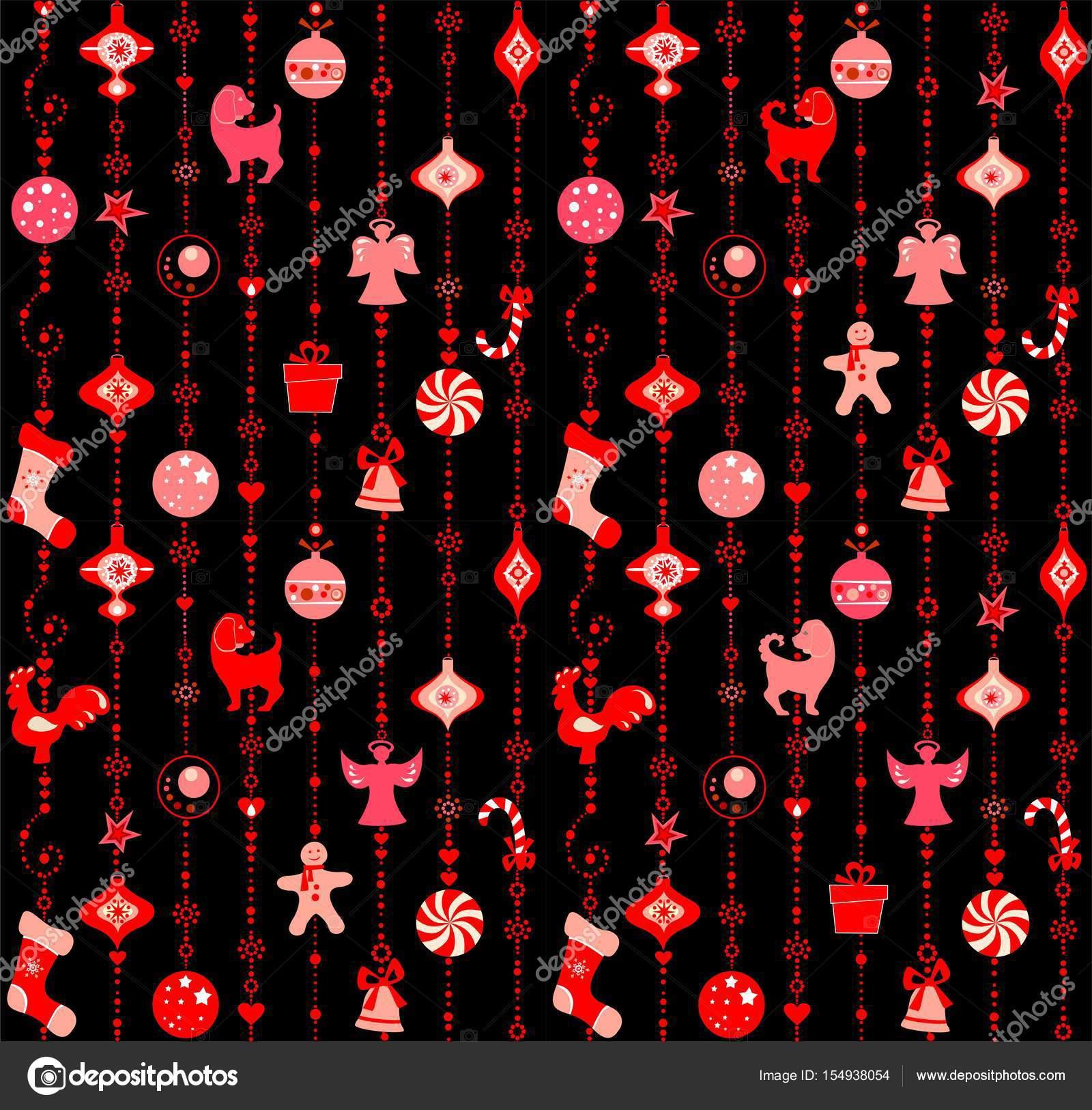 Fondo De Pantalla De Navidad Negro Con Rojo Divertido