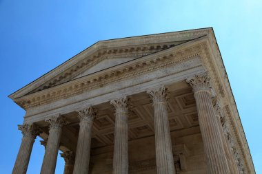 Maison Carree in the city of Nimes, France