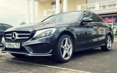 New black Mercedes Benz.