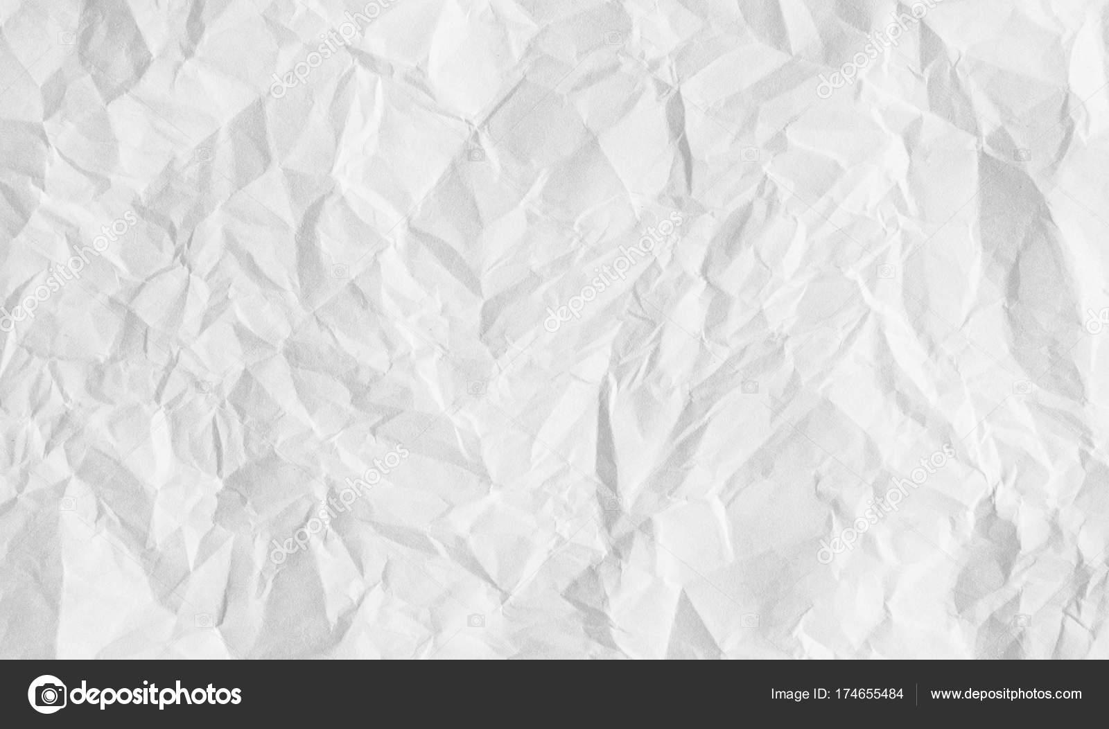 Blanco Arrugado Fondo De Hoja De Papel