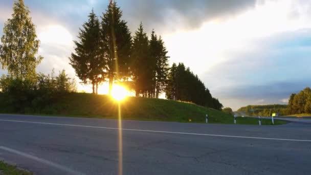 Časová prodleva silnice na krásný večer