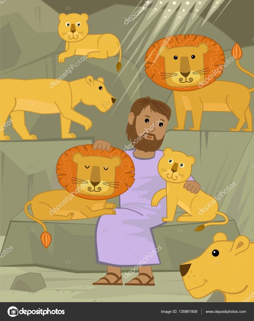 Daniel con los leones — Archivo Imágenes Vectoriales © bilhagolan ...