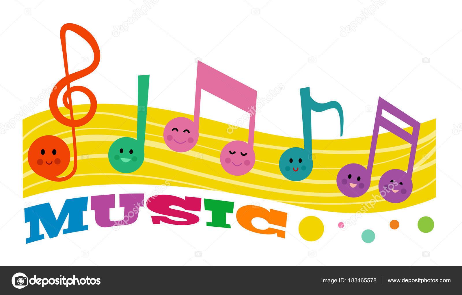 Cictures Clip Art Music Notes Music Notes Colorful Clip Art Smiling Music Notes Word Music Stock Vector C Bilhagolan 183465578