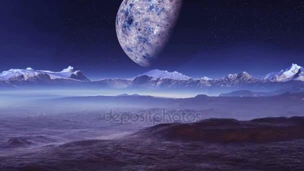 Big Moon Over An Alien Planet
