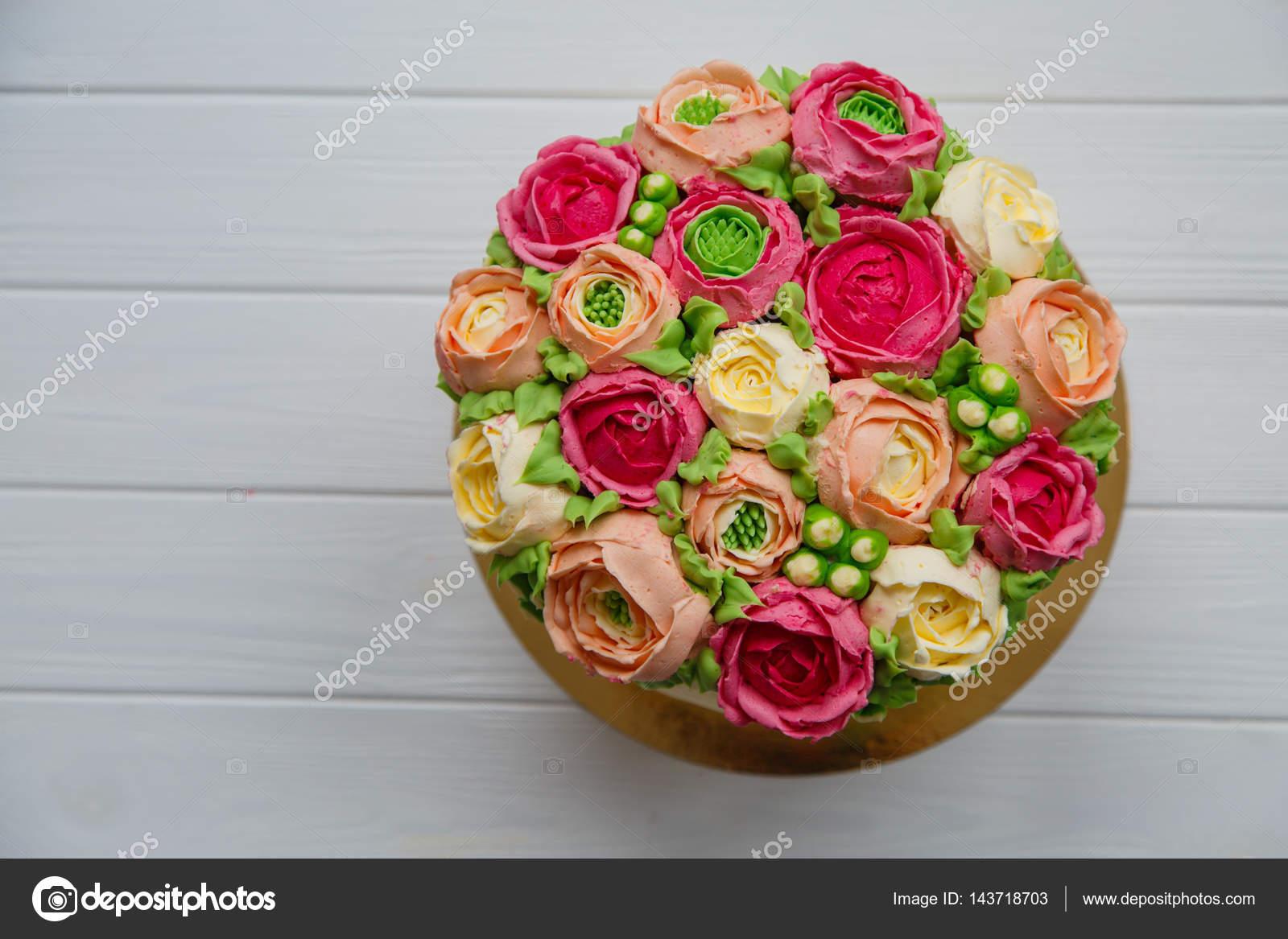Kuchen Susse Blumen 8 Marz Fruhling Urlaub Hochzeit Stockfoto