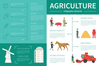 Agriculture infographic flat