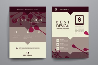 Brochure templates in DNA molecule style