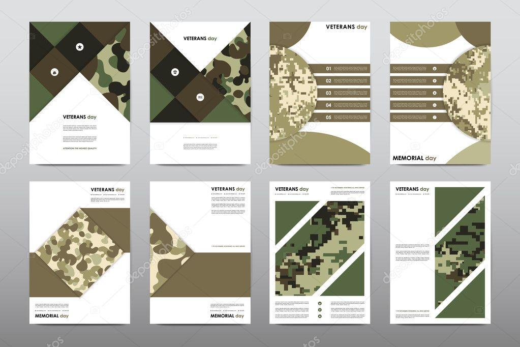 Set of Veterans Day brochures, posters