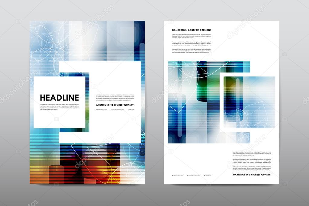 Broschüre Layout-Vorlage Flyer design — Stockvektor © Palau83 #125705194