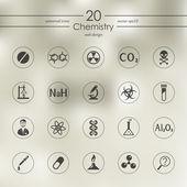 Fotografie Set of chemistry icons