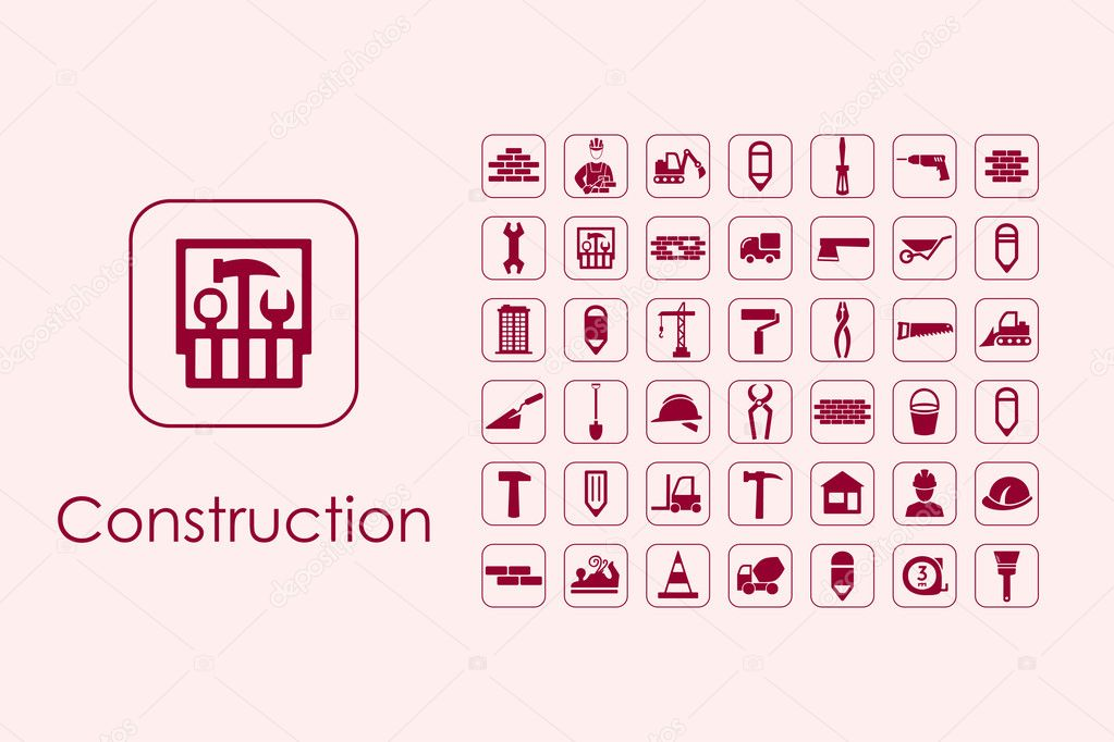 Satz von Konstruktion einfache Symbole — Stockvektor © Palau83 ...