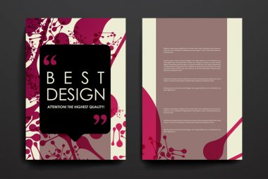 Set of brochure, poster design templates