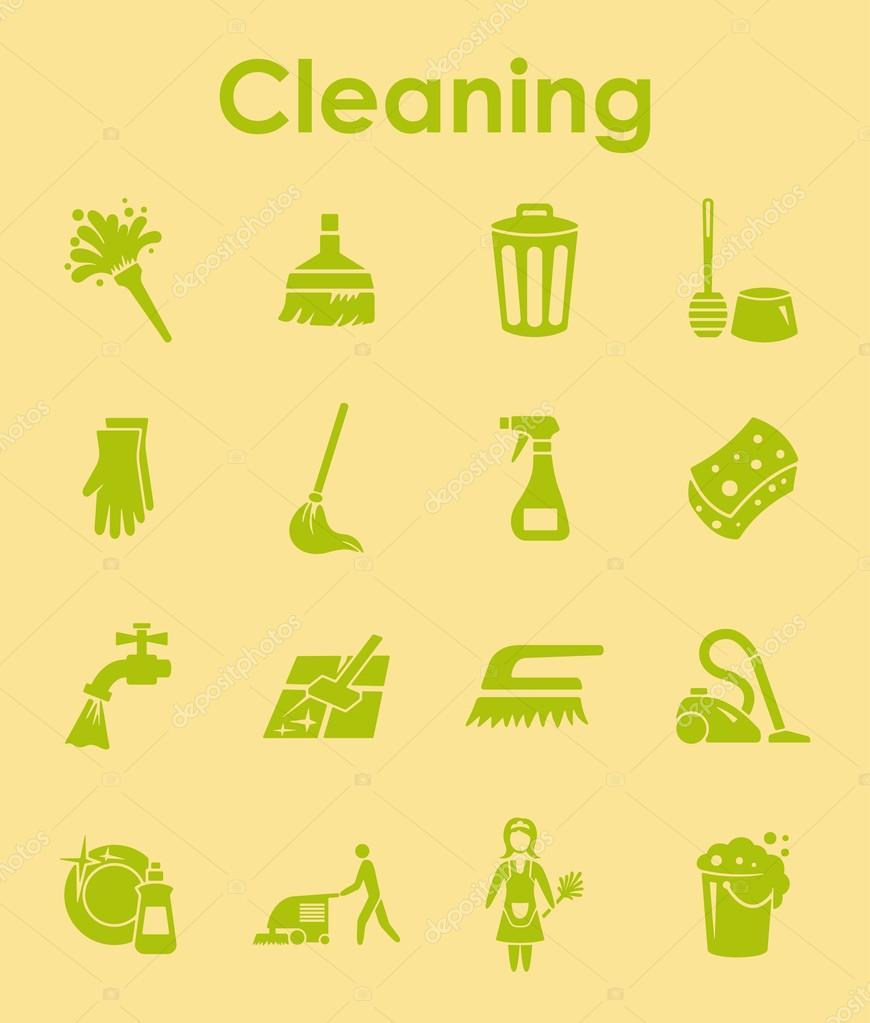 Satz von Reinigung einfache Symbole — Stockvektor © Palau83 #126789116