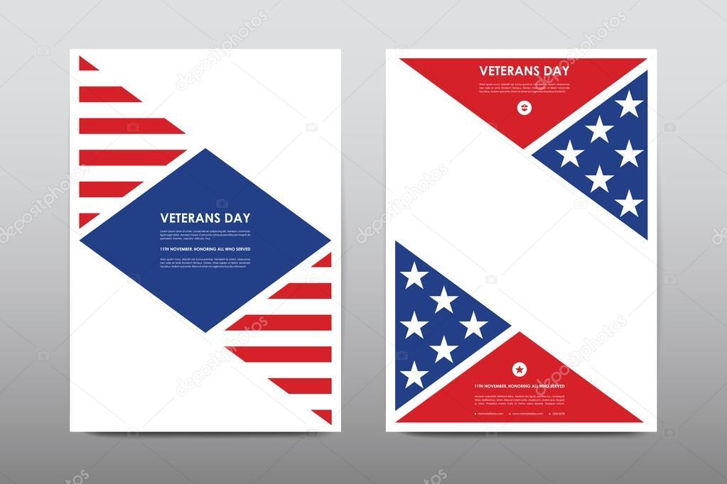 Set of Veterans Day brochures