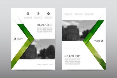 Magazine booklet cover with abstract background