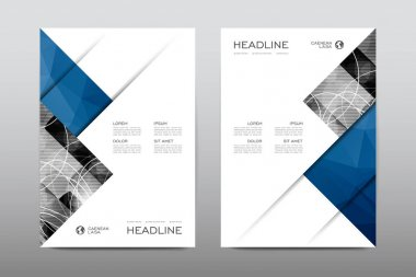 Layouts of design brochures, magazine booklets cover abstract background, posters, leaflets stock vector