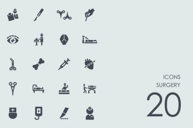Set of surgery icons