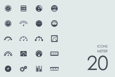 Set of meter icons