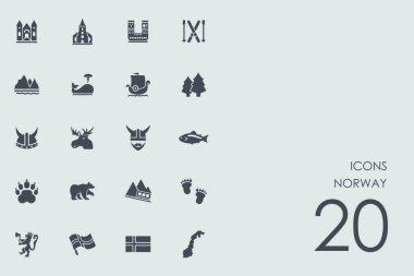 Set of Norway icons
