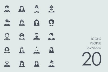 Set of people avatars icons