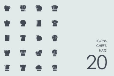 Set of chef's hats icons