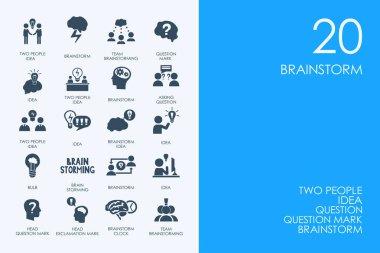 Set of brainstorm icons