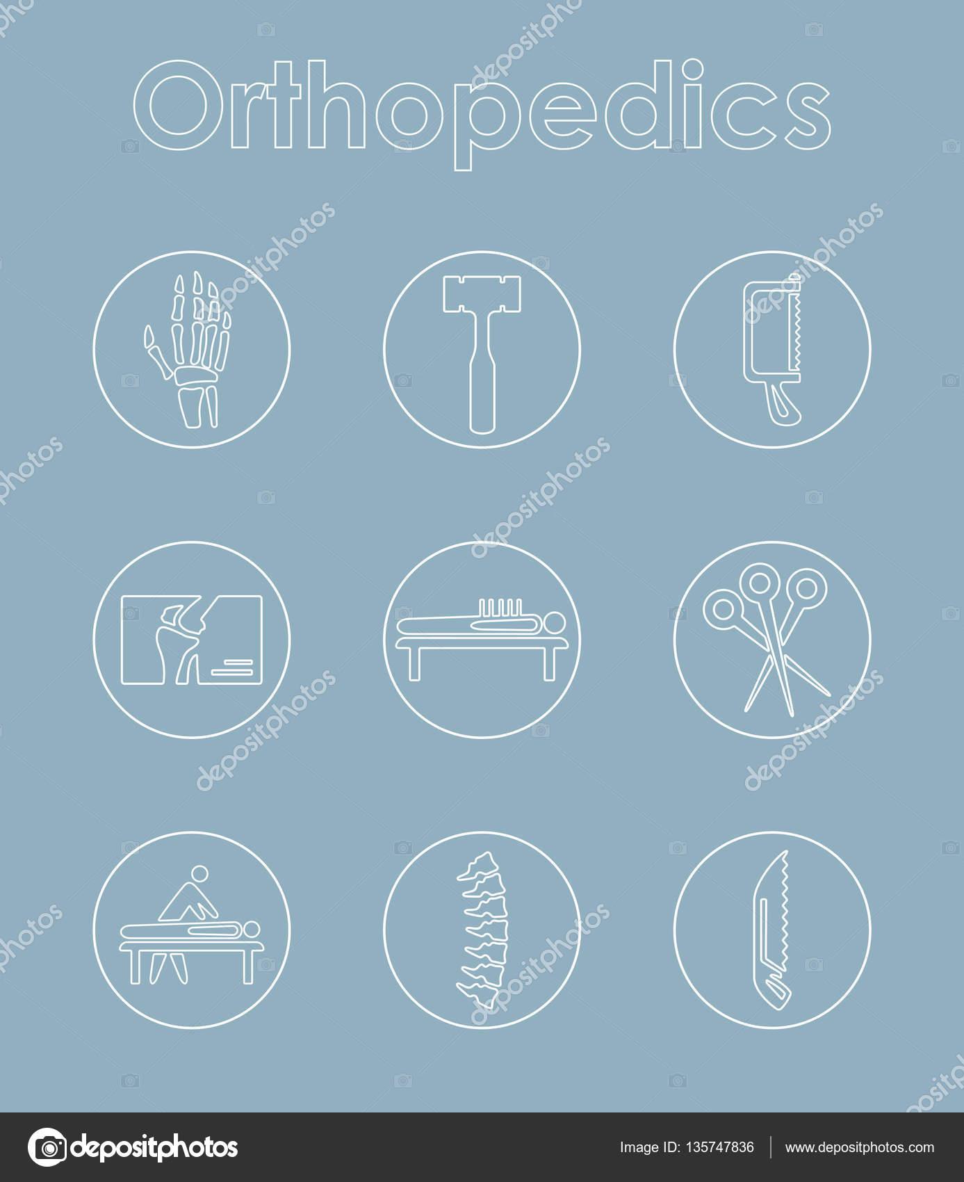 Satz von Orthopädie einfache Symbole — Stockvektor © Palau83 #135747836