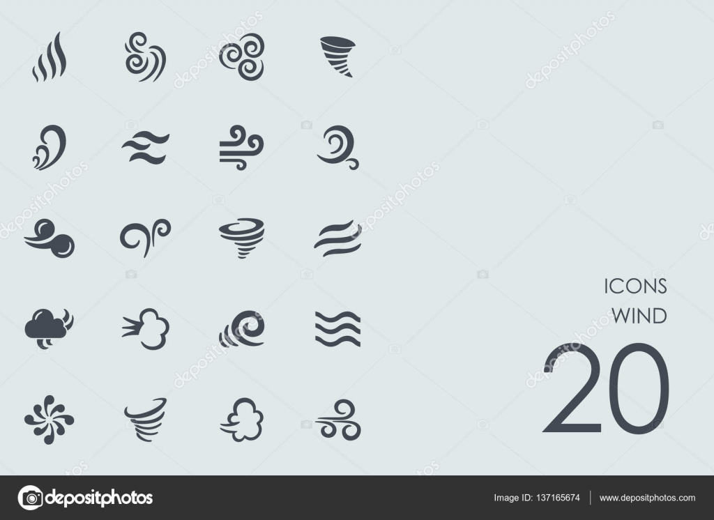 Wind stock vectors royalty free wind illustrations depositphotos set of wind icons stock vector biocorpaavc Images