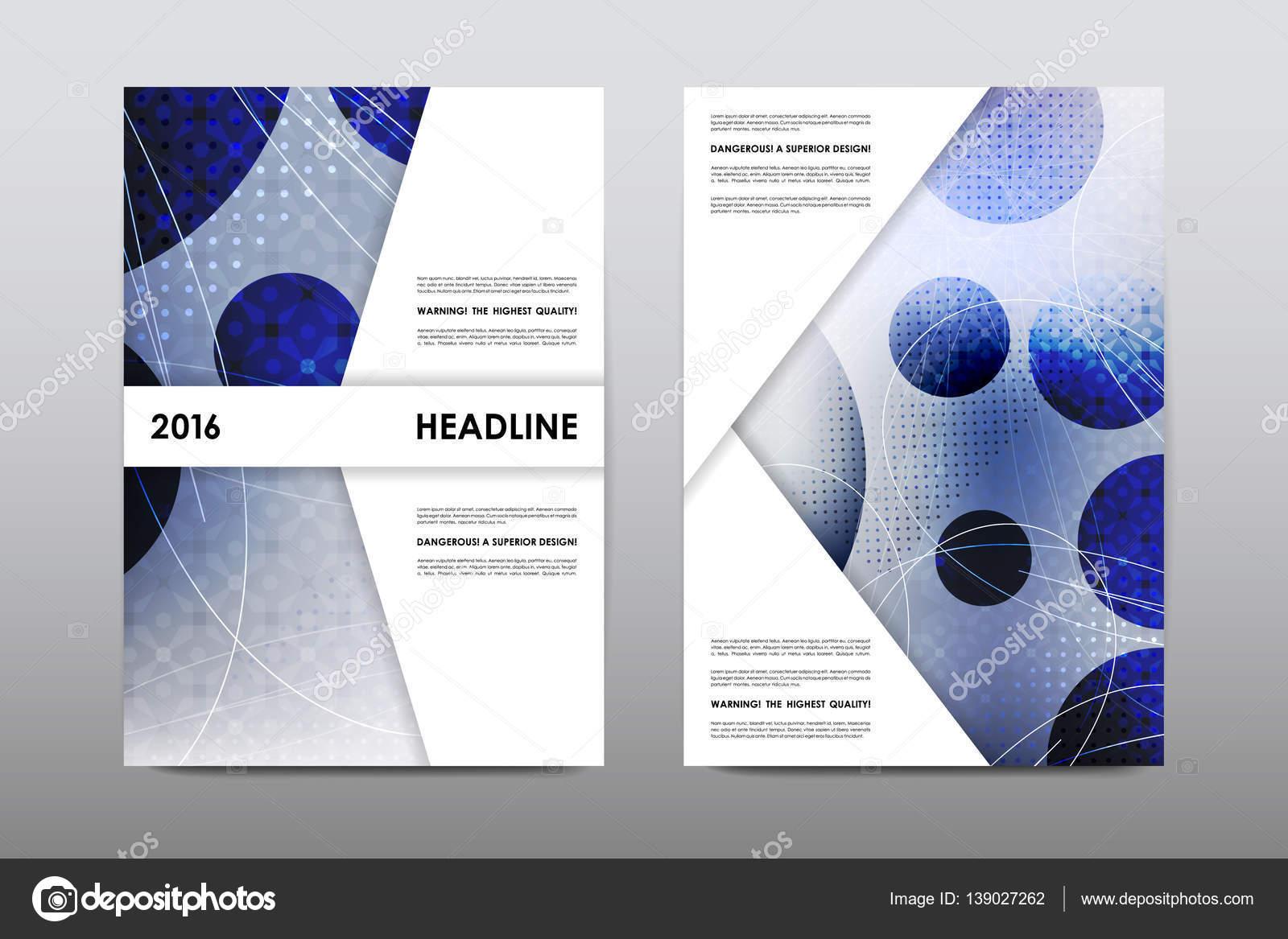 Broschüre Layout-Vorlage Flyer Design Vektor, Magazin-Heft-cover ...