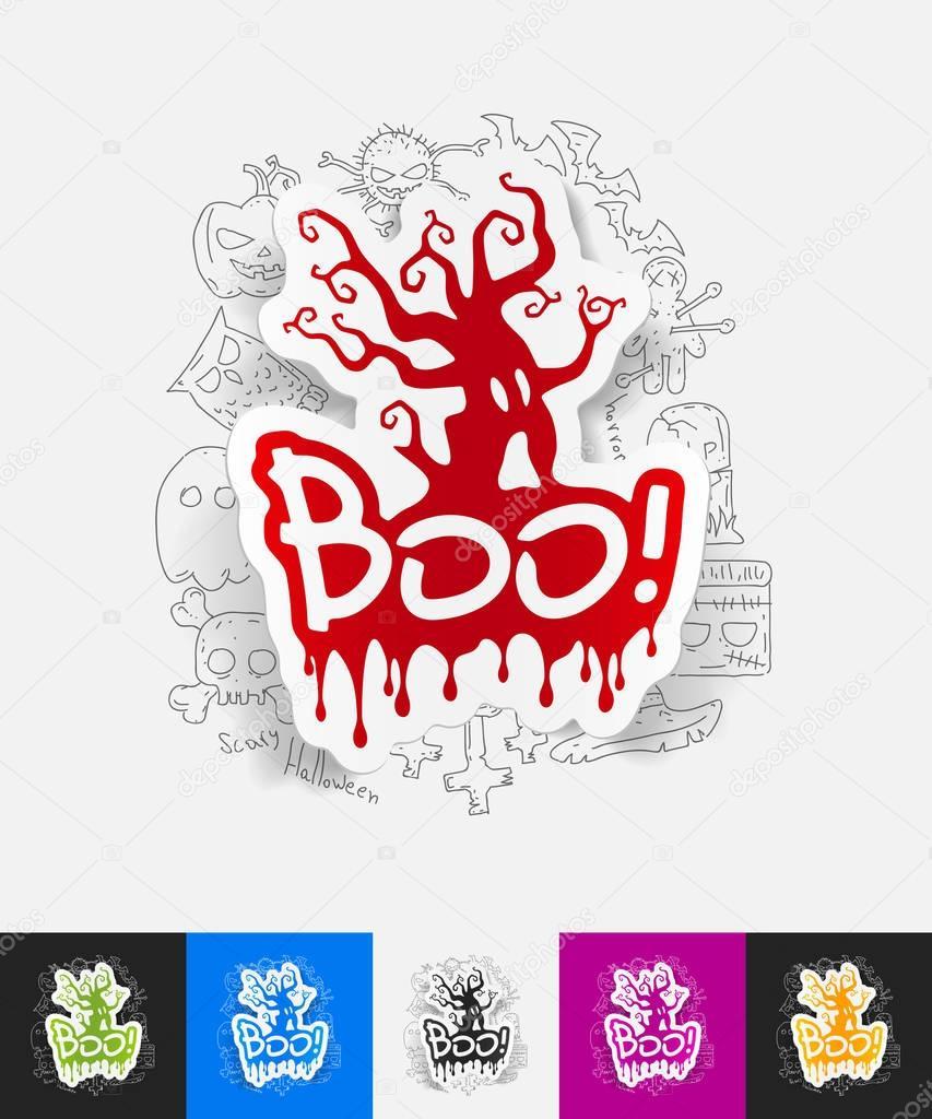 boo paper sticker