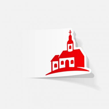 church flat icon