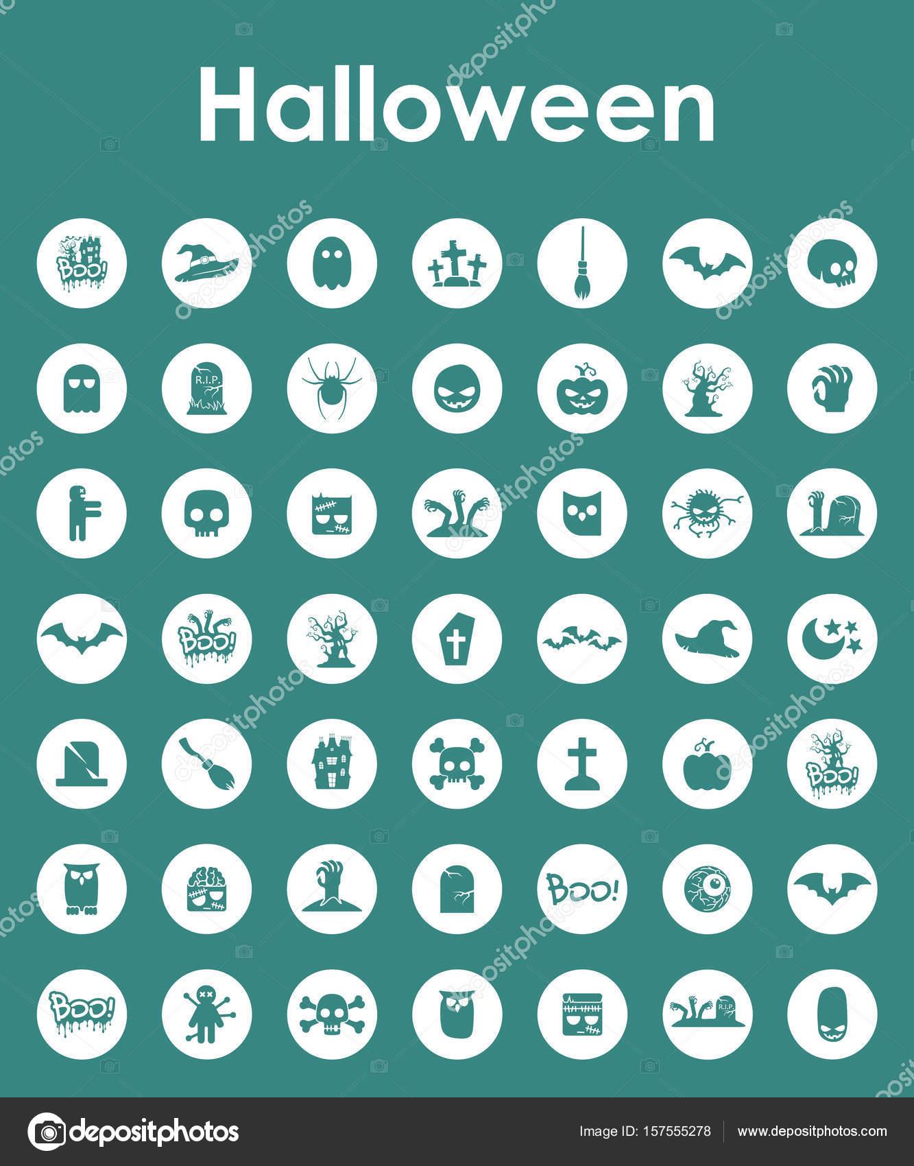 Satz von Halloween einfache Symbole — Stockvektor © Palau83 #157555278