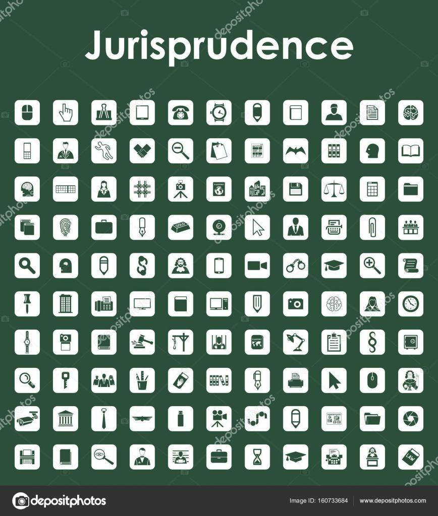 Satz von Rechtswissenschaft einfache Symbole — Stockvektor © Palau83 ...