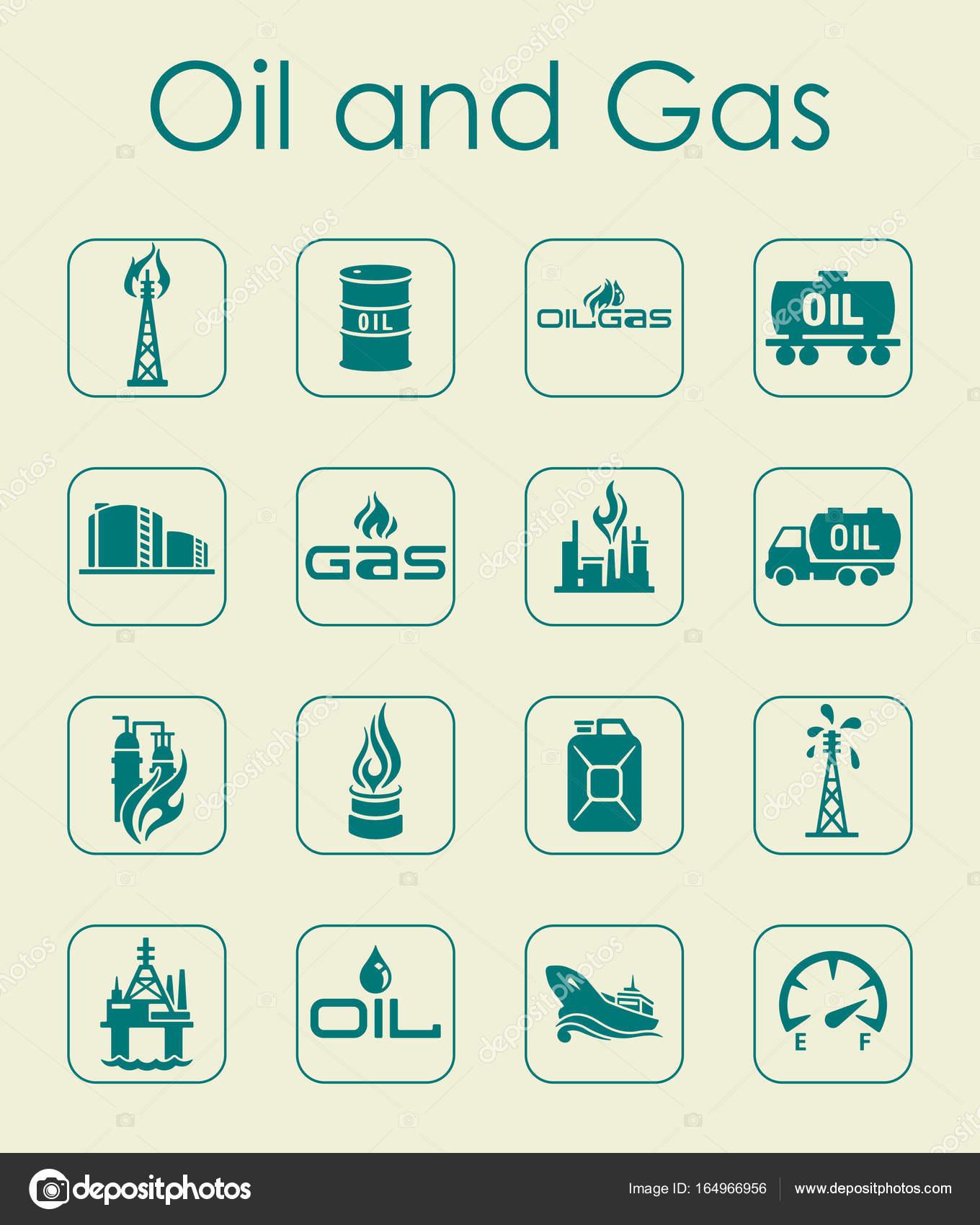 Satz von Öl und Gas einfache Symbole — Stockvektor © Palau83 #164966956