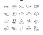 Photo Logos line icons, vector illustration