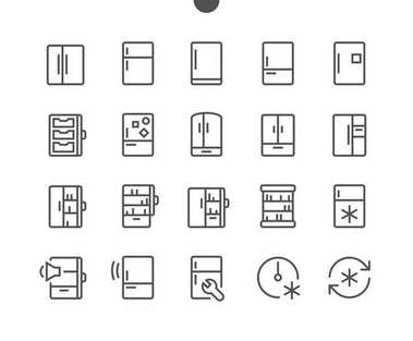 Fridge UI Pixel Perfect Well-crafted Vector Thin Line Icons 48x48 Ready for 24x24 Grid for Web Graphics and Apps with Editable Stroke. Simple Minimal Pictogram Part 1-2 clip art vector