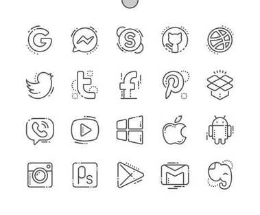 Logos Well-crafted Pixel Perfect Vector Thin Line Icons 30 2x Grid for Web Graphics and Apps. Simple Minimal Pictogram